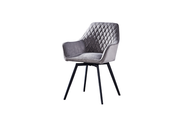 Кресло поворотное DC79001R велюр серый купить в салоне-студии мебели Барселона mnogospalen.ru много спален мебель Италии классические современные